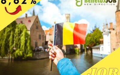 Wzrost liczby wolnych etatów w Belgii o prawie 10 procent!